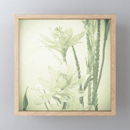 Glass flowers Framed Mini Art Print