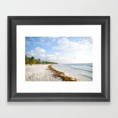 carribbean beach. Framed Art Print