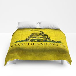 Gadsden Flag, Don't Tread On Me in Vintage Grunge Comforters