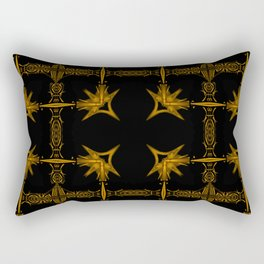 Brown Star Pattern Rectangular Pillow
