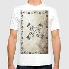 synergy MEDIUM White Mens Fitted Tee