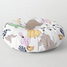 safari animal yoga Floor Pillow