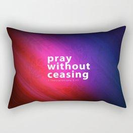 Pray Without Ceasing - Bible Lock Screens Rectangular Pillow