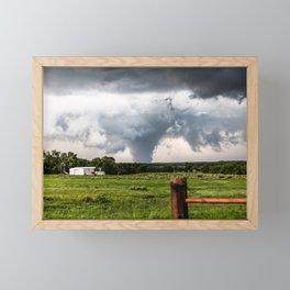 Siren - Large Tornado In Texas Panhandle Framed Mini Art Print