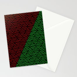 Trippy Triangle Color-Split (Red/Green) Stationery Cards
