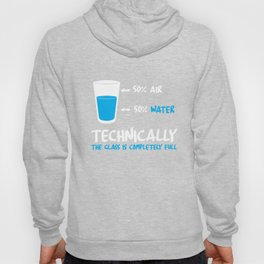 Funny Glass Half Full Pun Science Teacher Apparel Hoody