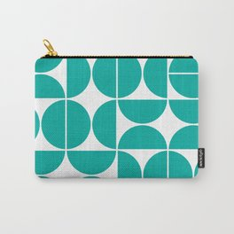 Mid Century Modern Geometric 04 Turquoise Carry-All Pouch