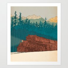North-bound Train Art Print