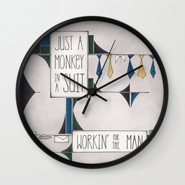 Monkey in a Suit Wall Clock