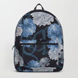 Blue Floral Pattern Backpack