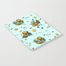 Oranges and Butterflies on Mint Notebook