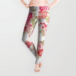 Elise shabby chic on white Leggings