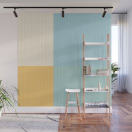 Color Block Lines III Wall Mural