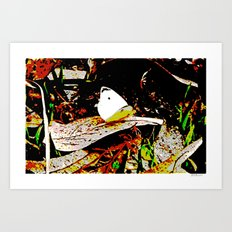 Cabbage White Butterfly Comics Art Print