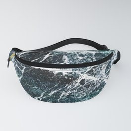Green marble abstract Fanny Pack