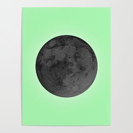 BLACK MOON + LIME GREEN SKY Poster