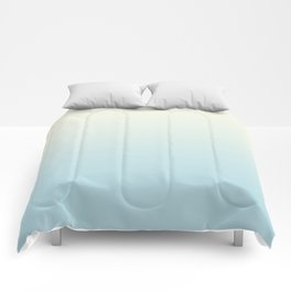 Ombre Blue Plume Pale Creme Comforters