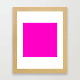 Fluorescent neon pink | Solid Colour Framed Art Print