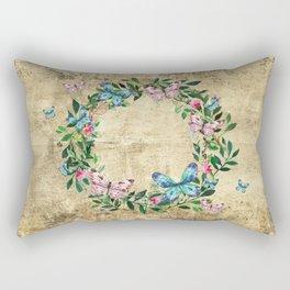 Wreath #Flowers & Butterflies#Royal collection Rectangular Pillow