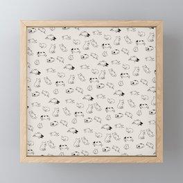 More Sleep Frenchie Framed Mini Art Print