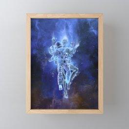 Deep Space Embrace Framed Mini Art Print