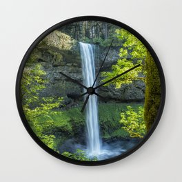 South Falls During Spring Wall Clock
