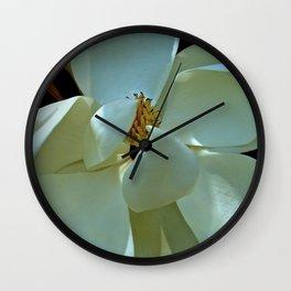 Blue Magnolia Wall Clock