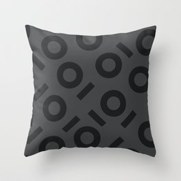 Gray Keyhole Pattern Throw Pillow