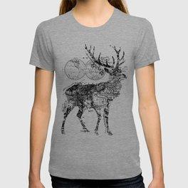 Deer Wanderlust Black and White T-shirt