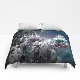 Flowers Purple & Teal Comforters