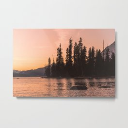 Forest Island at the Lake - Nature Photography Metal Print