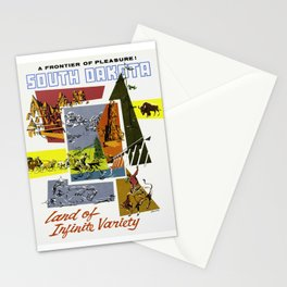 Vintage South Dakota Travel Stationery Cards