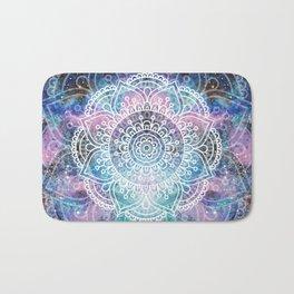 Mandala Dream   Watercolor Galaxy Painting Bath Mat