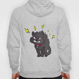 cartoon scared black cat Hoody