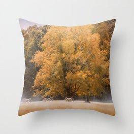 Morning on the Battlefield Throw Pillow