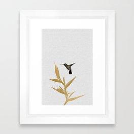 Hummingbird & Flower II Framed Art Print