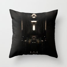 it's not totally dark Throw Pillow