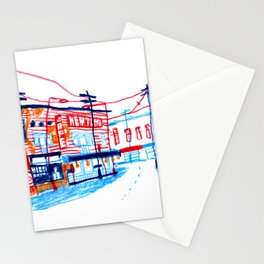 Telephone wires Stationery Cards