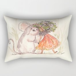 Thumbelina and the Mouse! Rectangular Pillow