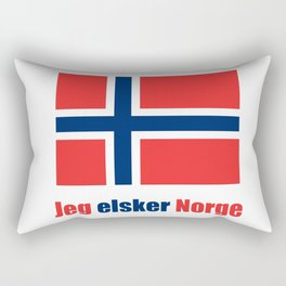 flag of norway 4 snow,scandinavia,scandinavian,norwegian,oslo Rectangular Pillow