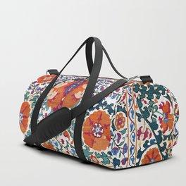 Shakhrisyabz Suzani Uzbekistan Antique Embroidery Print Duffle Bag