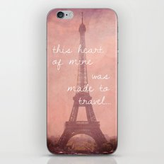 This Heart Was Made to Travel iPhone & iPod Skin