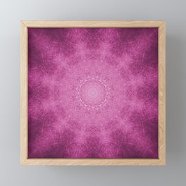 Cerise Mandala Framed Mini Art Print
