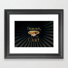 Diamonds for Gold Minimal Framed Art Print