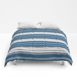 Blue & Gray Stripe Pattern Comforters