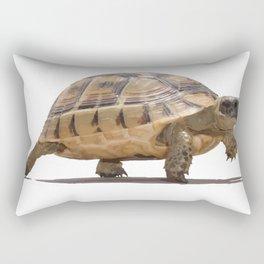 Marching Baby Tortoise Cartoon Vector Isolated Rectangular Pillow