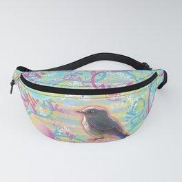 Summery Bubbly Bird Fanny Pack