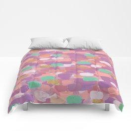 Pink & Copper Confetti Comforters