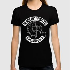 Sons Of Donuts / Simpsons / Donuts (BW version) SMALL Black Womens Fitted Tee