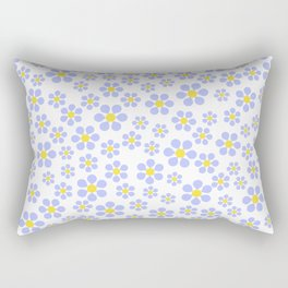 Random Blue Flowers - more colors Rectangular Pillow